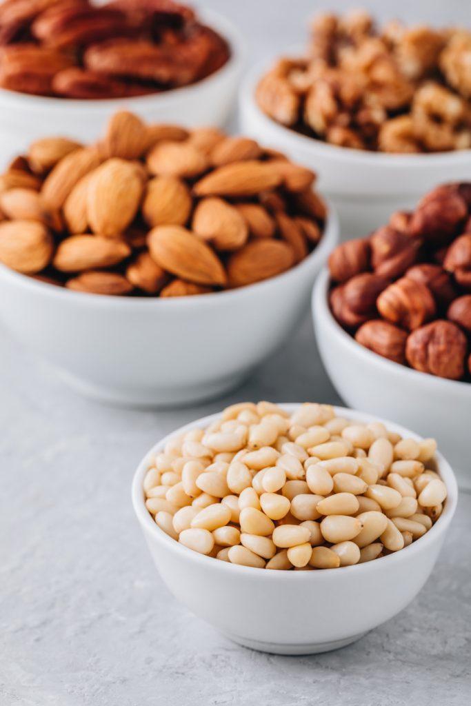 Pine Nuts Almonds Pecans Walnuts And Hazelnuts In Yuzs9w6